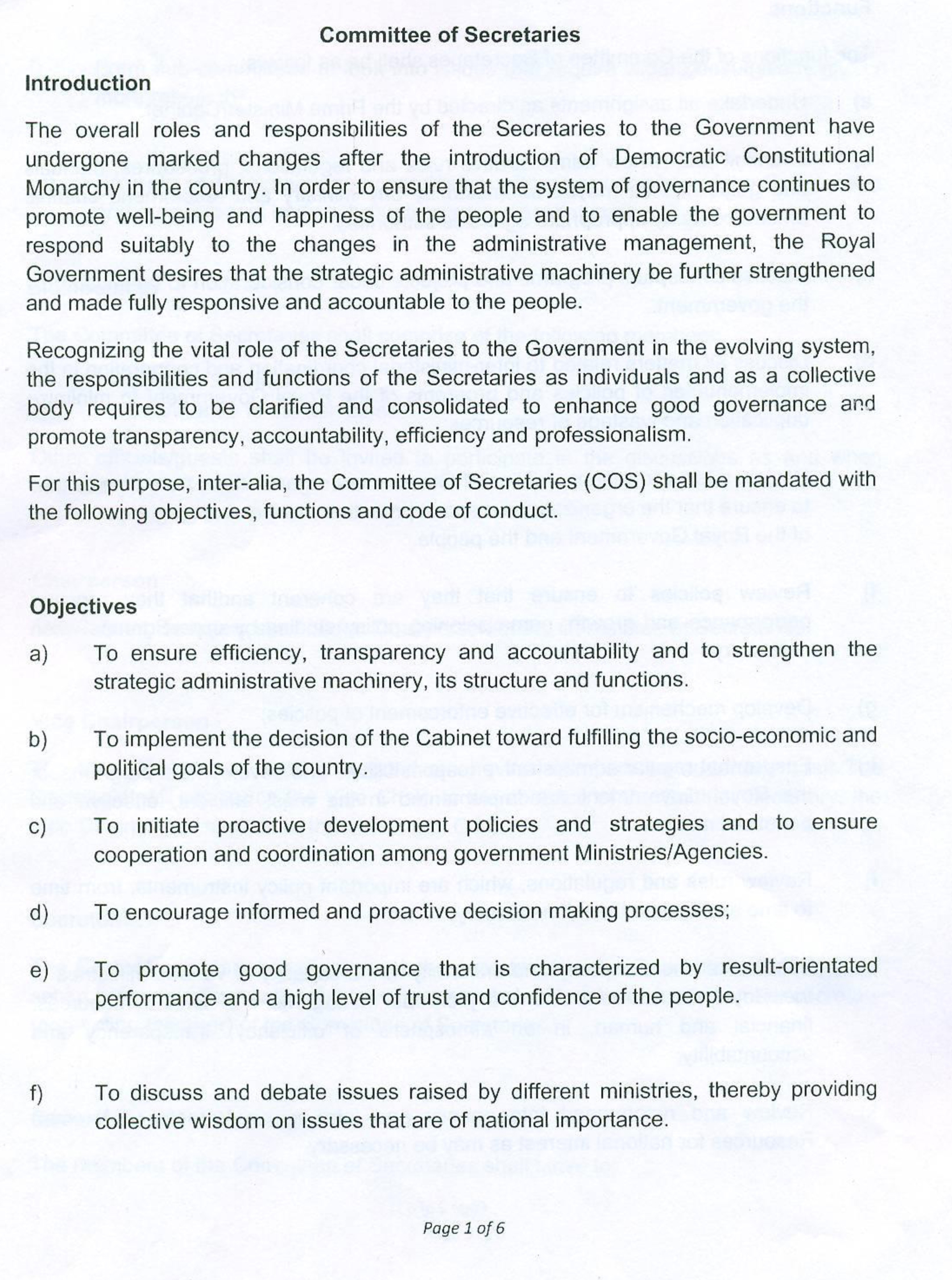 Terms of reference cabinet secretariat terms of reference pronofoot35fo Images