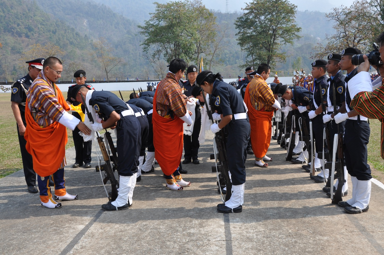 PM as Chief Guest at Jigmeling Passing Out Parade