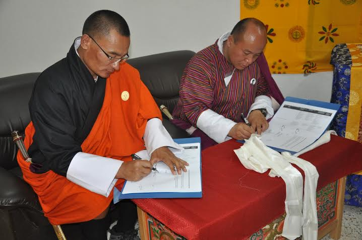 PM signs Performance Agreement with Pema Gatshel Dzongkhag