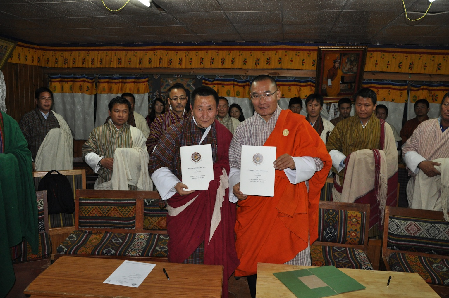 PM signs Performance Agreements with Wangdue and Trongsa Dzongdags